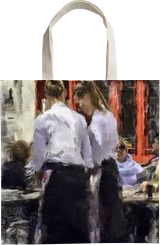Spanish Waitresses, Digital Art / Computer Art, Modernism, Cityscape, Digital, By Carolyn S Allen