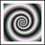 Spiral in Green and Violet, Decorative Arts,Digital Art / Computer Art, Abstract, Decorative,Mathematics, Digital, By Colin Forrest