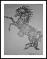 Spirit Warrior, Drawings / Sketch, Realism, Animals,Still Life, Pencil, By Matthew Scott Lannholm
