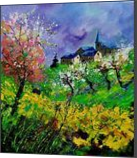 spring 671430, Paintings, Impressionism, Landscape, Canvas, By Pol Henry Ledent