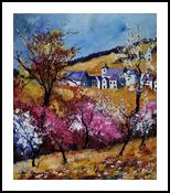 Spring 67415, Paintings, Impressionism, Landscape, Canvas, By Pol Henry Ledent