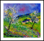 spring 774140, Paintings, Expressionism, Landscape, Canvas, By Pol Henry Ledent