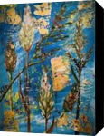 SPRING ADVENTURE - WILD GRASS SEEDS, Paintings, Abstract,Modernism, Botanical,Nature, Acrylic, By HSIN LIN