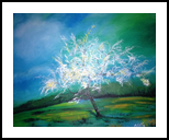 spring blossoms 2, Paintings, Fine Art, Landscape, Acrylic,Canvas, By Judith Akli