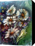 spring flowers, Collage,Paintings, Realism, Botanical,Fantasy,Floral, Mixed,Painting,Watercolor, By Maria Hristova Koleva