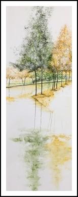 Spring reflection, Paintings, Impressionism, Landscape, Oil, By Stephen Keller