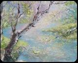 SPRING STREAM original oil painting, Paintings, Fine Art,Impressionism,Realism, Land Art,Landscape,Moving Images, Canvas,Oil, By Emilia Milcheva