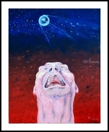 Sputnik launched, Paintings, Surrealism, Humor, Acrylic,Canvas, By Victor Ovsyannikov
