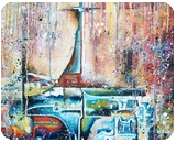 St Cross Church, Paintings, Abstract,Expressionism, Cityscape, Canvas,Oil, By Marcio Moreira