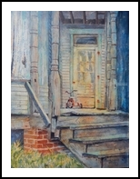Steps to the Past, Paintings, Fine Art, Architecture,Fantasy,Historical, Acrylic,Mixed, By Sarah L Luginbll