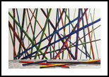 Sticks, Paintings, Abstract, Decorative, Painting, By Deb Schmidt