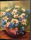 STILL LIFE, Decorative Arts, Romanticism, Decorative, Canvas, By elaine kapitulsky