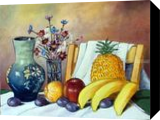 STILL LIFE WITH FRUIT, Paintings, Realism, Still Life, Oil, By Zenon Wladyslaw Rozycki