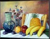 STILL LIFE WITH FRUIT, Paintings, Realism, Still Life, Oil, By Zenon Wladyslaw Rozycki