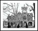 Stone Victorian Malvern Pa, Architecture, Realism, Architecture, Ink, By William Clark