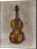 Stradivarius Violin, Paintings, Fine Art, Music,Still Life, Painting,Watercolor, By Kelly A Mills