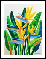 STRELIZIAS, Paintings, Realism, Floral, Mixed, By Zenon Wladyslaw Rozycki