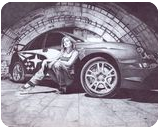 Subaru Impreza, Graphic, Realism, Architecture,Cityscape,Machnine Forms, Mixed, By Oleg Kozelskiy