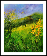 Summer 5641, Paintings, Impressionism, Landscape, Canvas, By Pol Henry Ledent