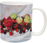 Summer fruits, Paintings, Fine Art,Photorealism,Realism, Botanical,Figurative,Still Life, Canvas,Oil, By Kateryna Bortsova