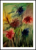 Summer In bloom, Paintings, Fine Art, Floral, Watercolor, By asm g ambia