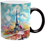 Summer in Paris, Paintings, Impressionism, Cityscape, Watercolor, By Kovacs Anna Brigitta