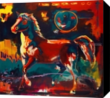 Summer Palette, Paintings, Fauvism, Animals, Acrylic, By Richard Robert Williams