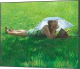 Summer reading, Paintings, Impressionism, Portrait, Oil, By Michael J Connors