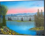 Sun Going Down on Me, Land Art,Paintings, Fine Art,Realism, Landscape, Canvas,Oil,Painting, By Lana karin Fultz