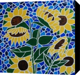 Sunflower Saturday, Paintings, Abstract,Expressionism,Fine Art, Botanical,Floral,Landscape, Acrylic,Canvas, By Rachel Olynuk