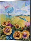 Sunflowers, Paintings, Fauvism,Fine Art, Nature, Canvas,Oil, By Beatrice BEDEUR