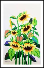 SUNFLOWERS, Paintings, Realism, Floral, Mixed, By Zenon Wladyslaw Rozycki