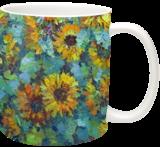 Sunflowers, Paintings, Impressionism, Floral,Landscape,Nature, Canvas,Oil, By Liudvikas Daugirdas