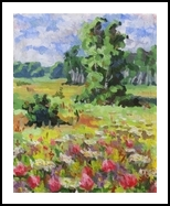 Sunny day, Paintings, Fine Art,Impressionism,Realism, Figurative,Floral,Landscape,Nature,Wildlife, Canvas,Oil, By Kateryna Bortsova