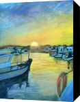 Sunset at Cala'n Bosch,Menorca, Paintings,Pastel, Fine Art,Realism, Seascape, Painting,Pastel, By Matthew David Evans