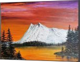 Sunset Expression, Land Art,Paintings, Realism, Landscape,Nature, Canvas,Oil,Painting, By Lana karin Fultz