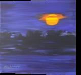 Sunset in Africa, Paintings, Fine Art, Landscape, Canvas,Oil,Painting, By Claudia Luethi alias Abdelghafar