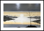 Sunset Lake, Paintings, Impressionism, Landscape, Oil, By Stephen Keller
