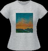 Sunset Path, Paintings, Fine Art,Impressionism,Realism, Landscape, Acrylic,Canvas, By David John Edwards