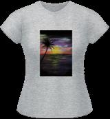 Sunset Sea, Paintings, Fine Art, Nature, Acrylic, By adam santana