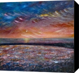 Sunset Texture, Paintings, Fine Art,Impressionism, Seascape, Canvas,Mixed,Painting, By Matthew David Evans