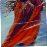Surviving Another Day Strong Native American Woman, Paintings, Expressionism, Figurative, Oil, By Jackie Carpenter