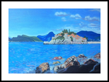 Sveti Stefan(acrylic on canvas), Paintings, Fine Art, Landscape, Acrylic, By Victoria Trok
