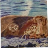 Sydney, Paintings, Impressionism,Realism, Animals,Portrait, Pencil, By Lisa Annette Bowersock