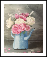 Tea Roses, Paintings, Fine Art, Botanical, Acrylic, By jennifer thuotte