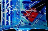 Tempête Bleue, Paintings, Abstract, Avant-Garde, Acrylic, By Sévi Cabell Maghee