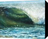 Textural Tube, Paintings, Fine Art, Seascape, Oil, By Gregg Hinlicky