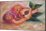 That's just peachy!, Paintings, Impressionism, Still Life, Canvas,Oil, By Runa Bakshi