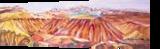 The Badlands, Paintings, Fine Art, Landscape, Acrylic, By Eva Marie Hunter
