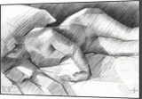 The birth of new cubism - 29-04-14, Drawings / Sketch, Cubism,Fine Art,Impressionism,Realism, Anatomy,Composition,Erotic,Figurative,Inspirational,Nudes,People, Pencil, By Corne Akkers
